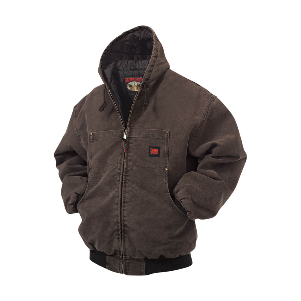Tough Duck Washed Hooded Bomber Jacket