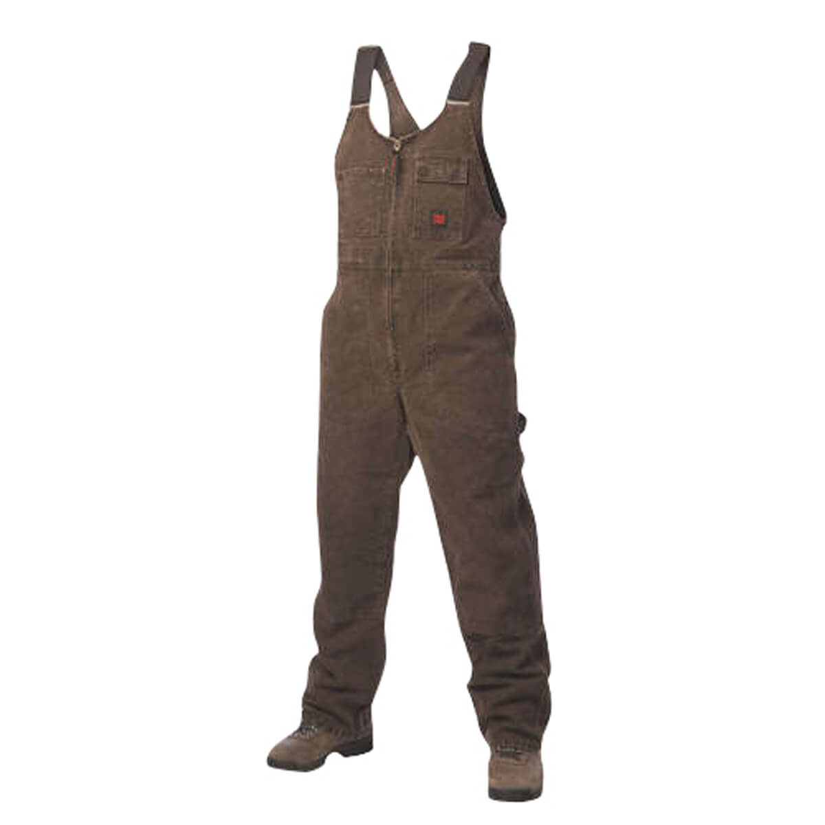 Tough Duck Washed Unlined Overall - Chestnut