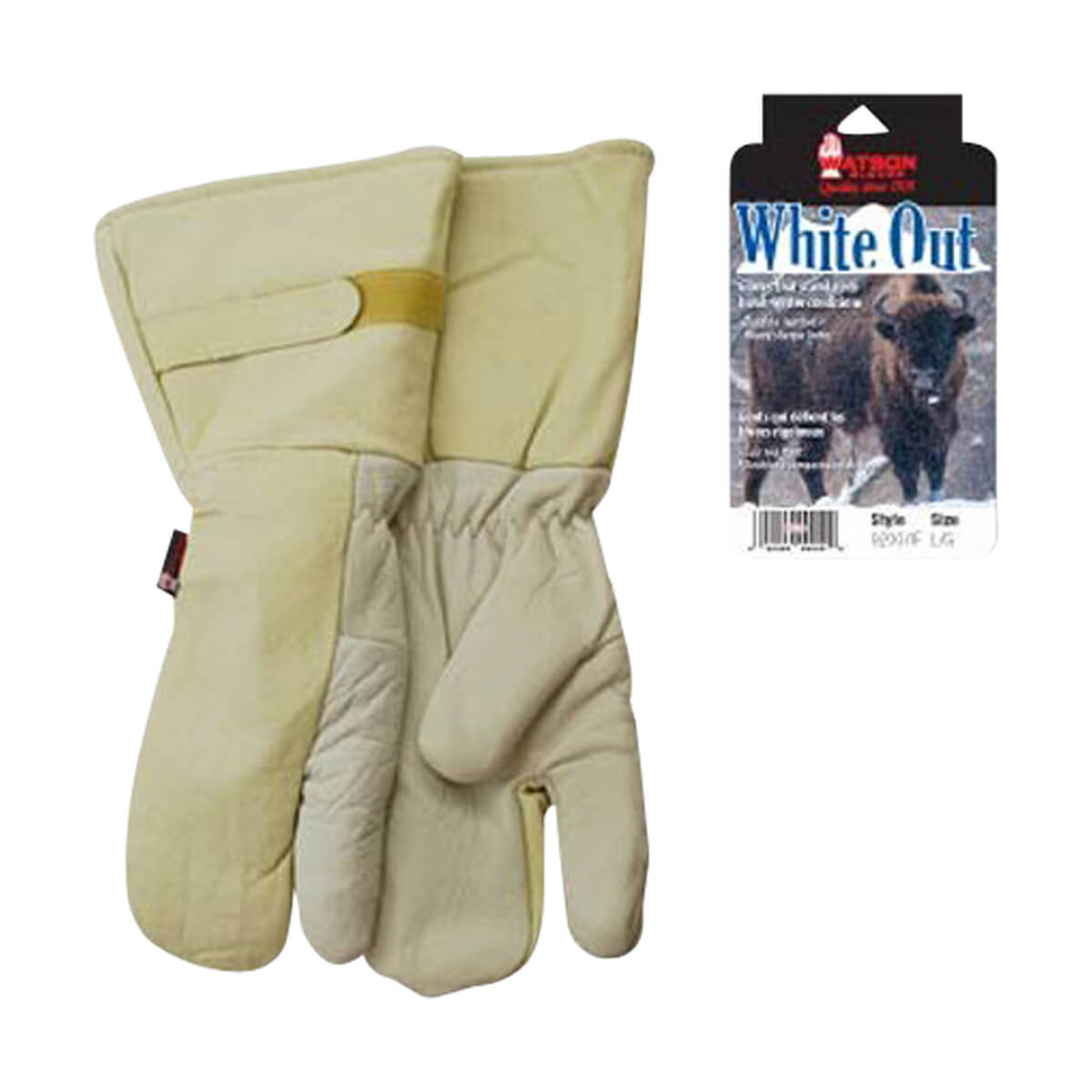 White Out Lined Winter Gloves