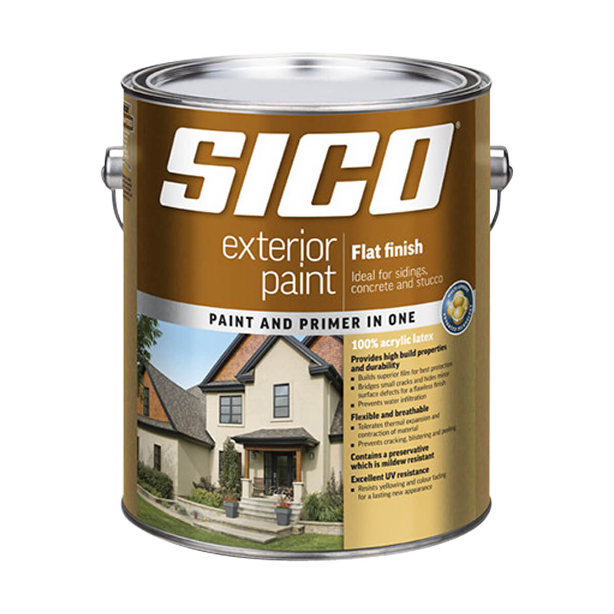 Sico Exterior Paint - Acrylic - Flat Finish Series 811 - Red Base - 3.78L
