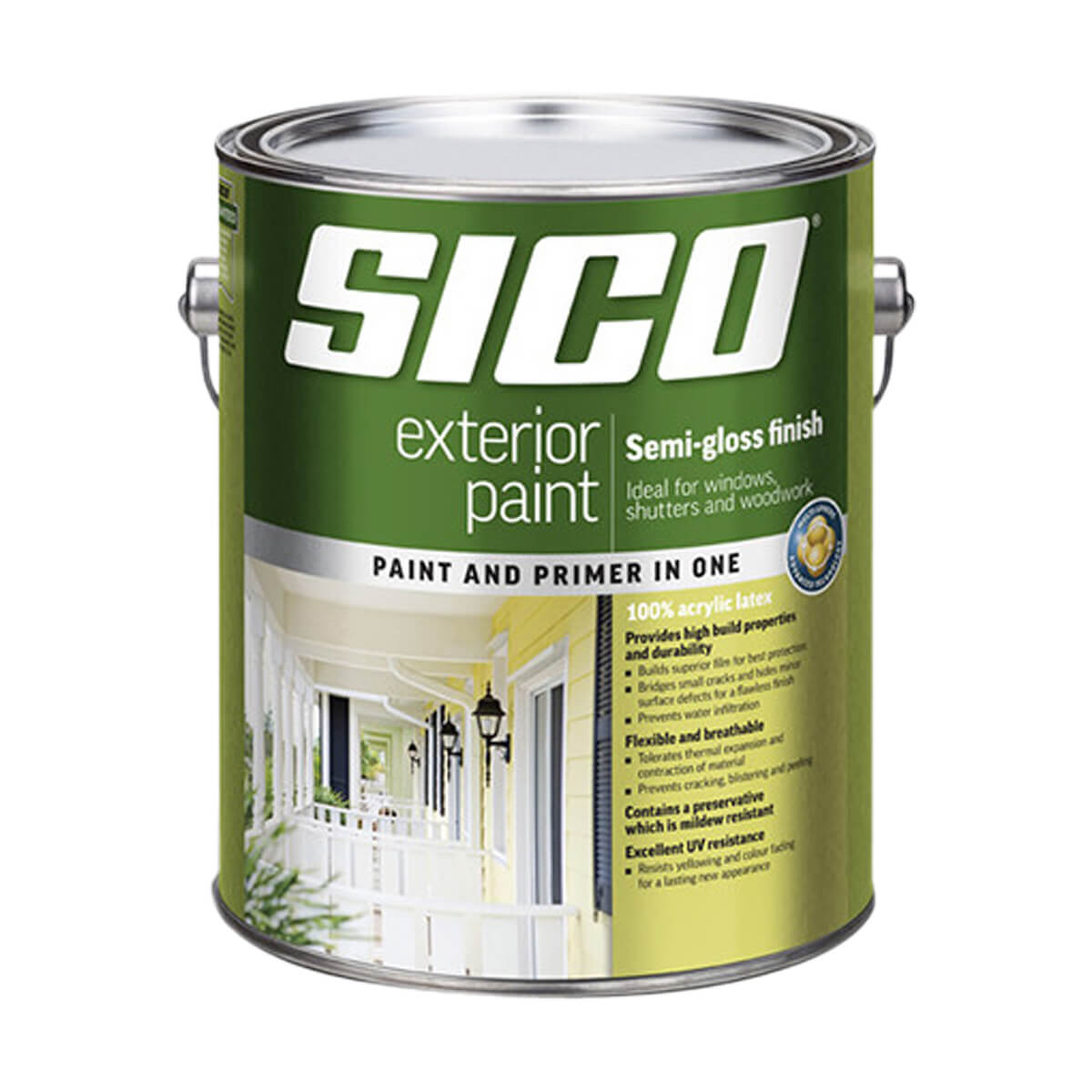 SICO Exterior Paint - Acylic - Semi-gloss Series 817 - Medium Base - 3.78L