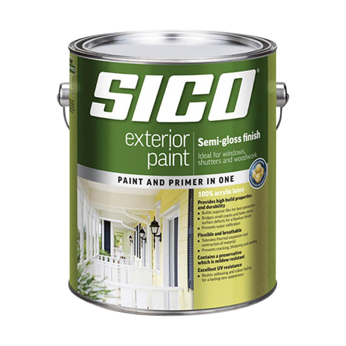 SICO Exterior Paint - Acylic - Semi-gloss Series 817 - White Base - 3.78L