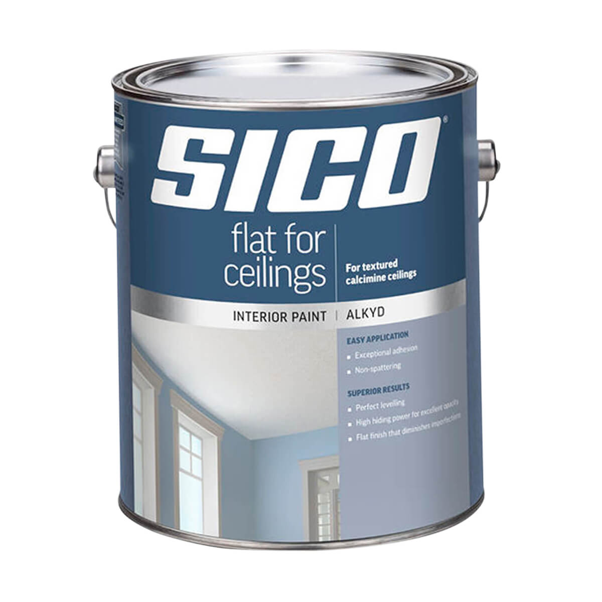 Sico Interior - Alkyd - Paint for Ceilings Series 721 - White - 3.78 L