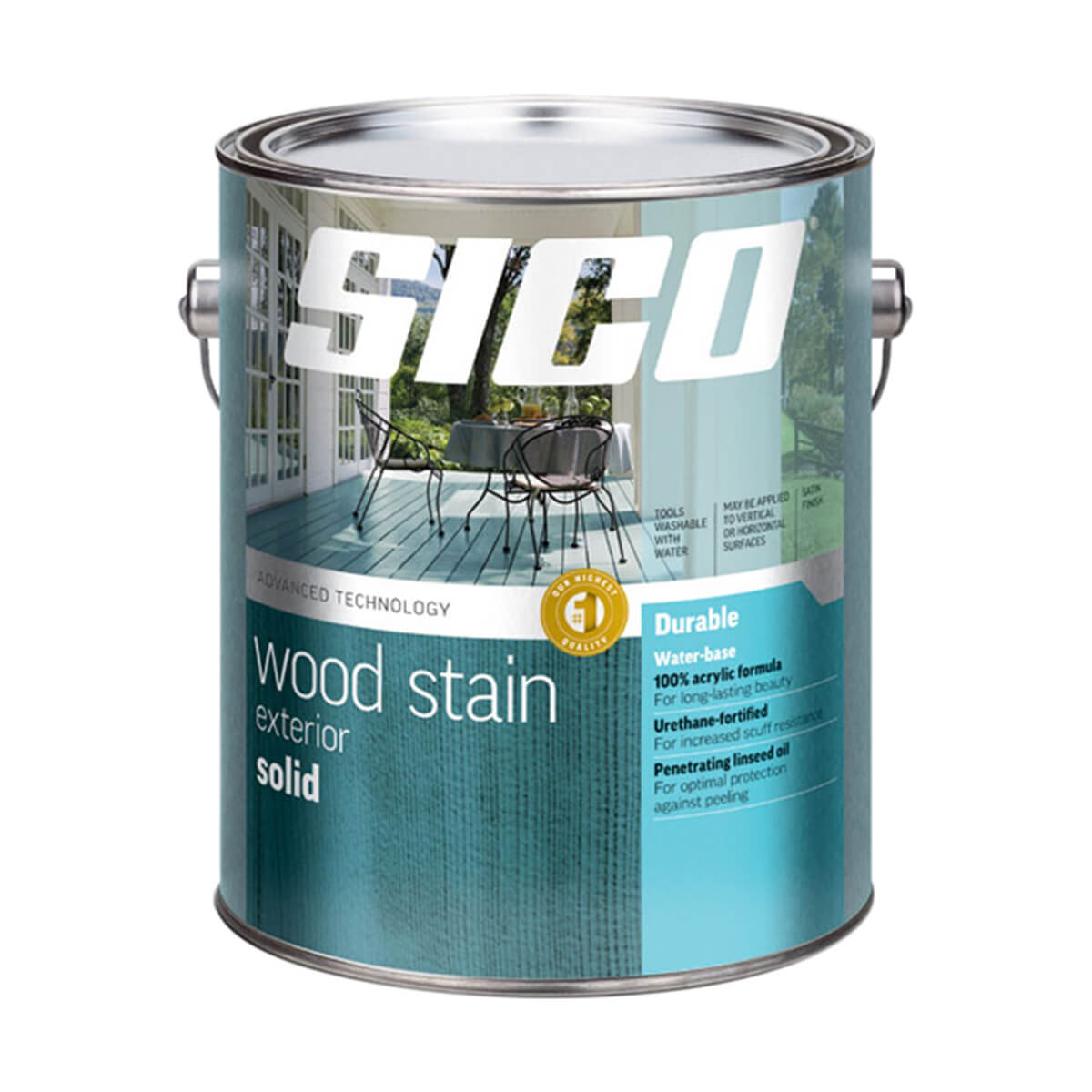 Sico Solid Exterior Stain Neutral Base 232-503 - 3.5 L