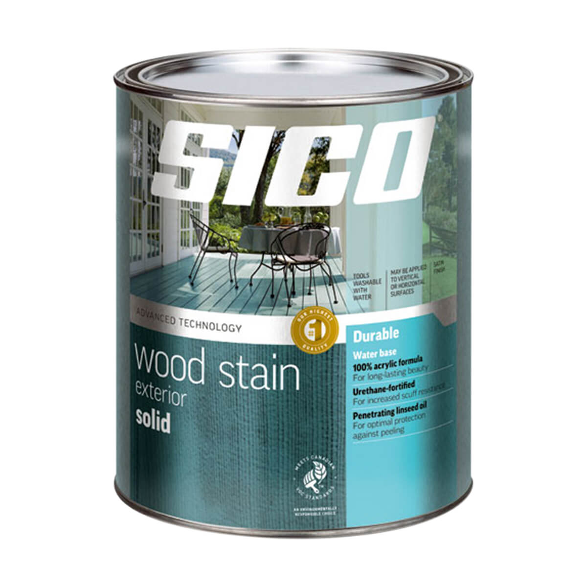 Sico Solid Exterior Stain White - 232-100 - 3.78 L