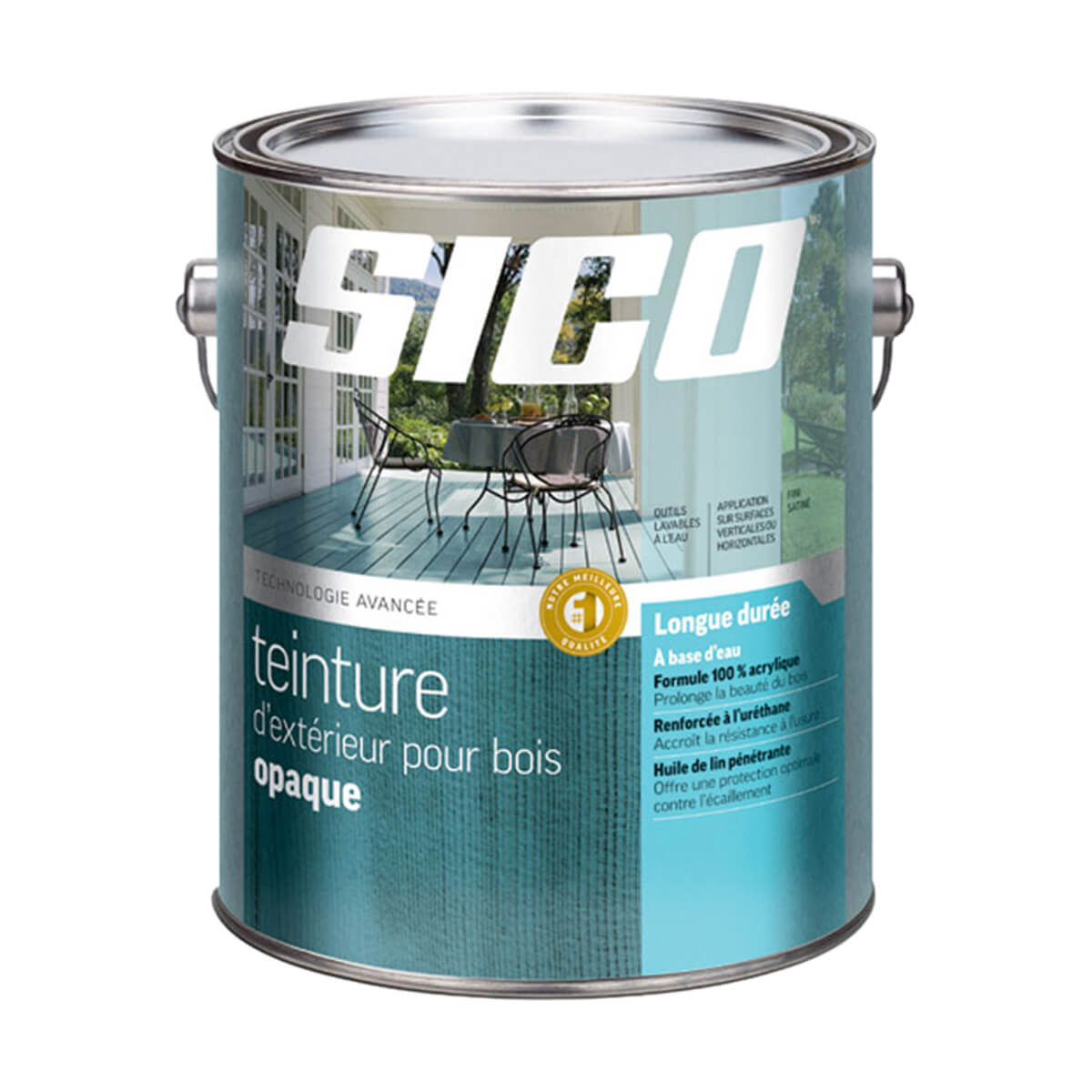 Sico Solid Exterior Stain White Base - 232-501 - 3.7L