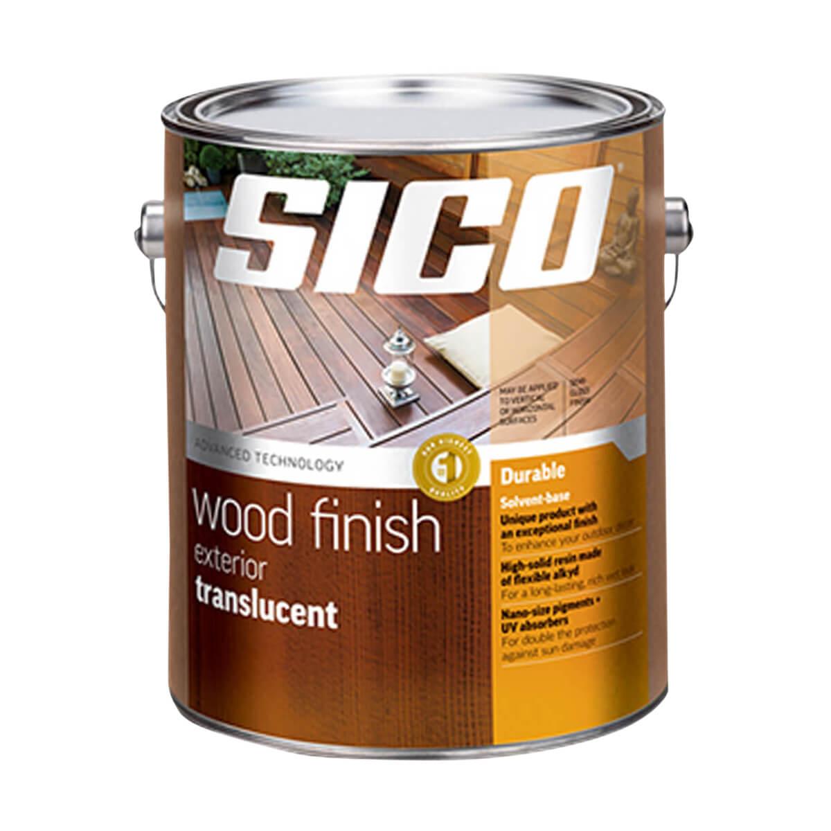 Sico Translucent Exterior Wood Finish - Series 236 - 3.78 L - Natural Oak