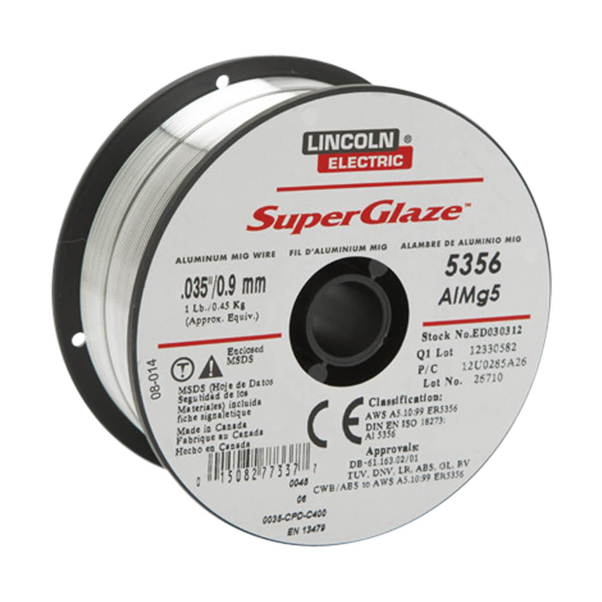 Lincoln Aluminum Mig Wire - .035 1 lb 5356