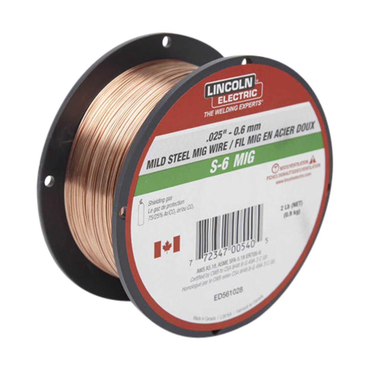 Lincoln Mig Wire S-6 - .025 2 lb ED561028