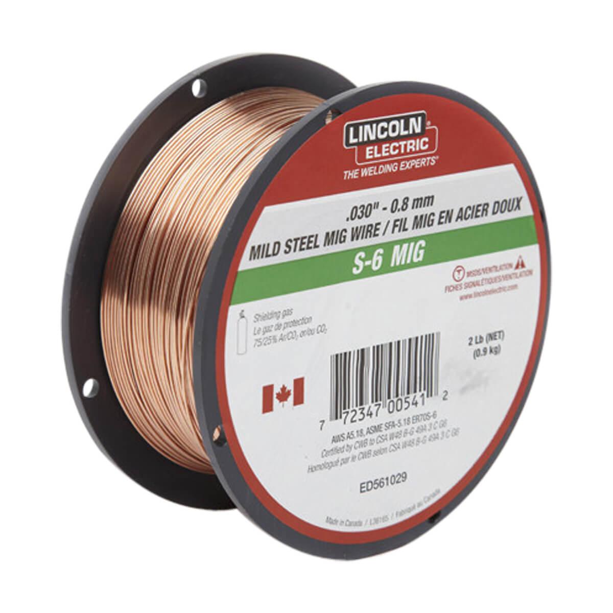 Lincoln Mig Wire S-6 - .030 2 lb ED561029