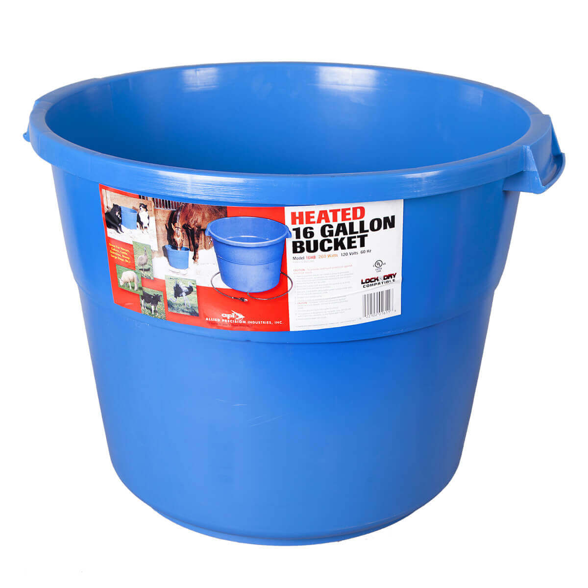 16 gal Heated Bucket