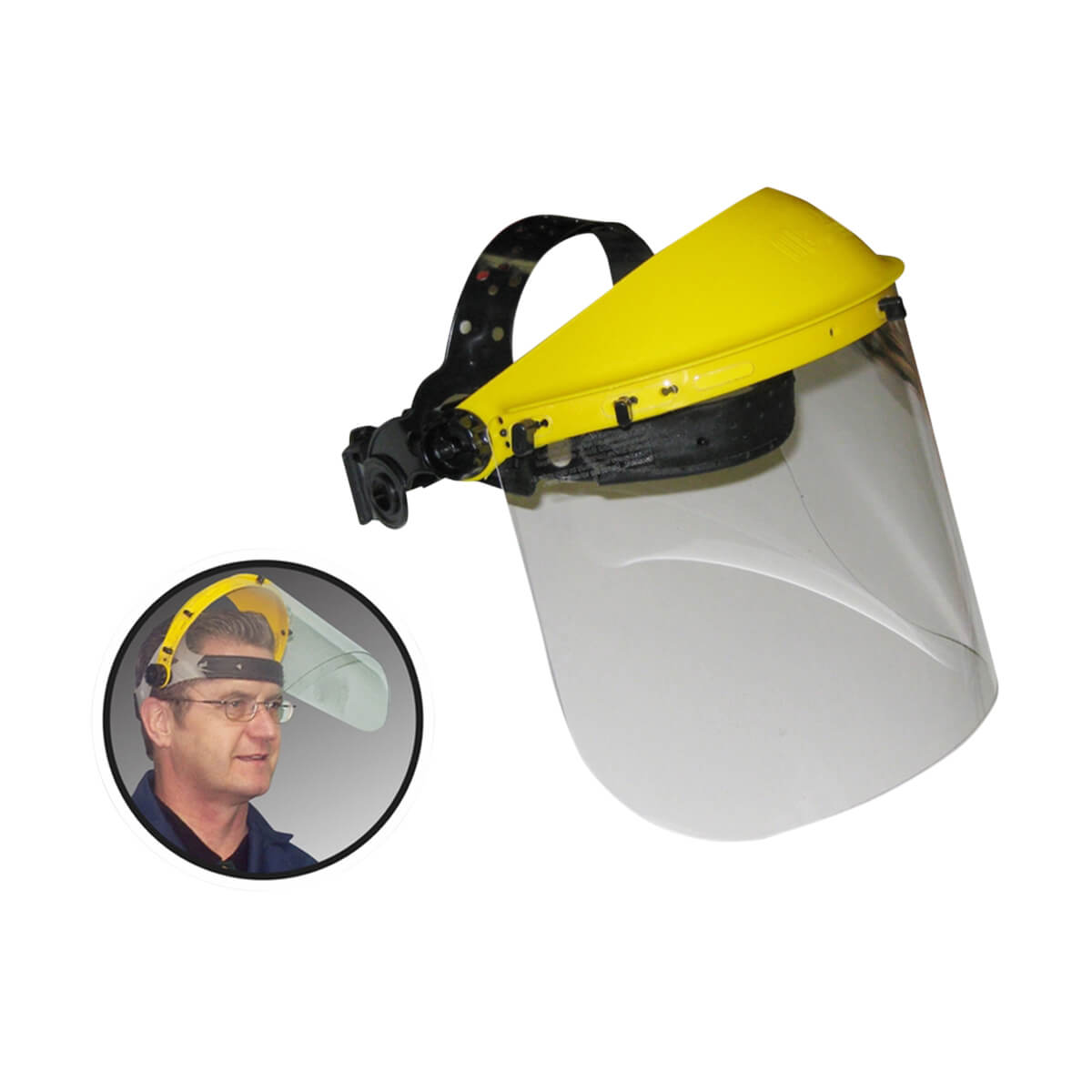 WorkHorse® Faceshield with Adjustable Ratchet