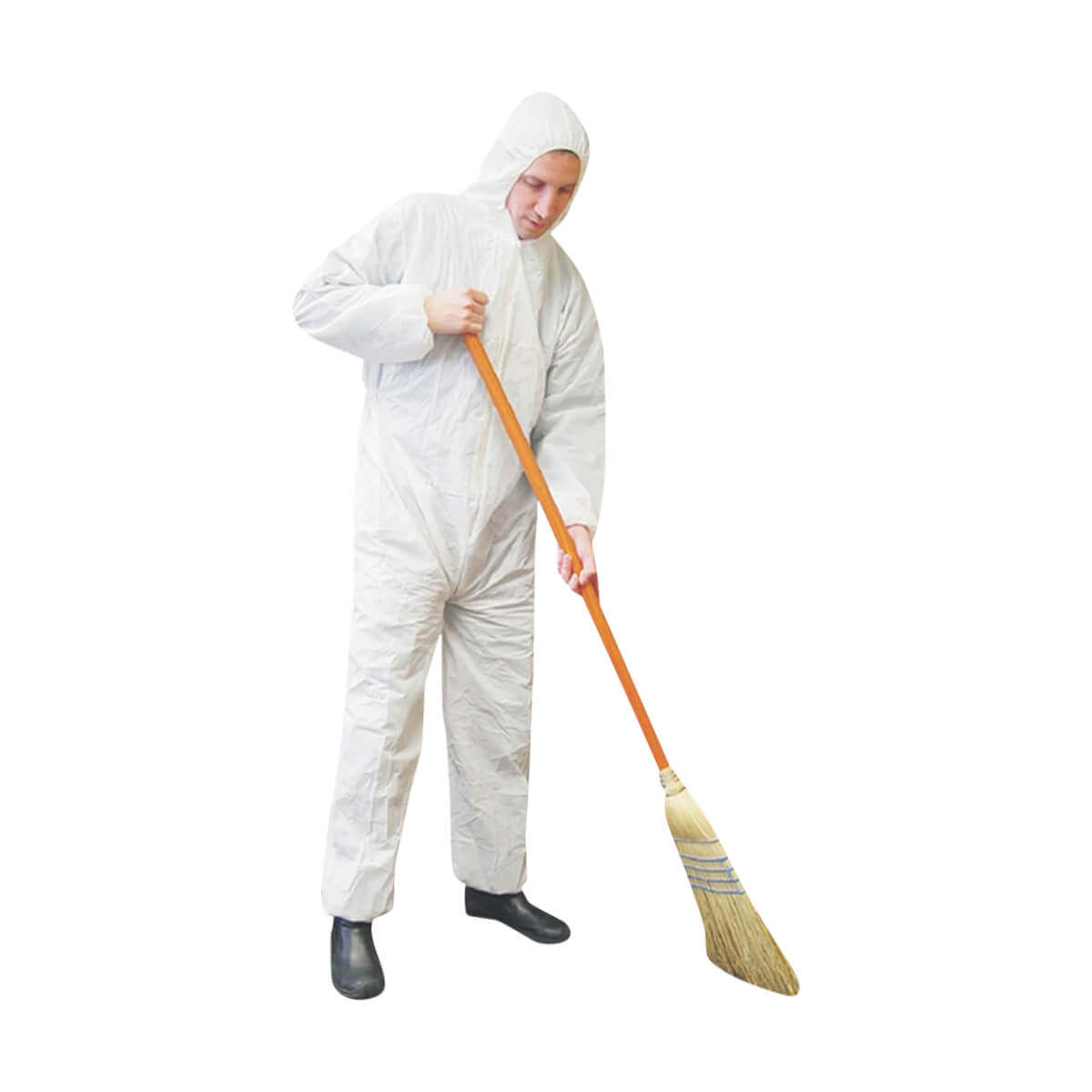 Stormfighter® White Polypropylene Coverall with Hood