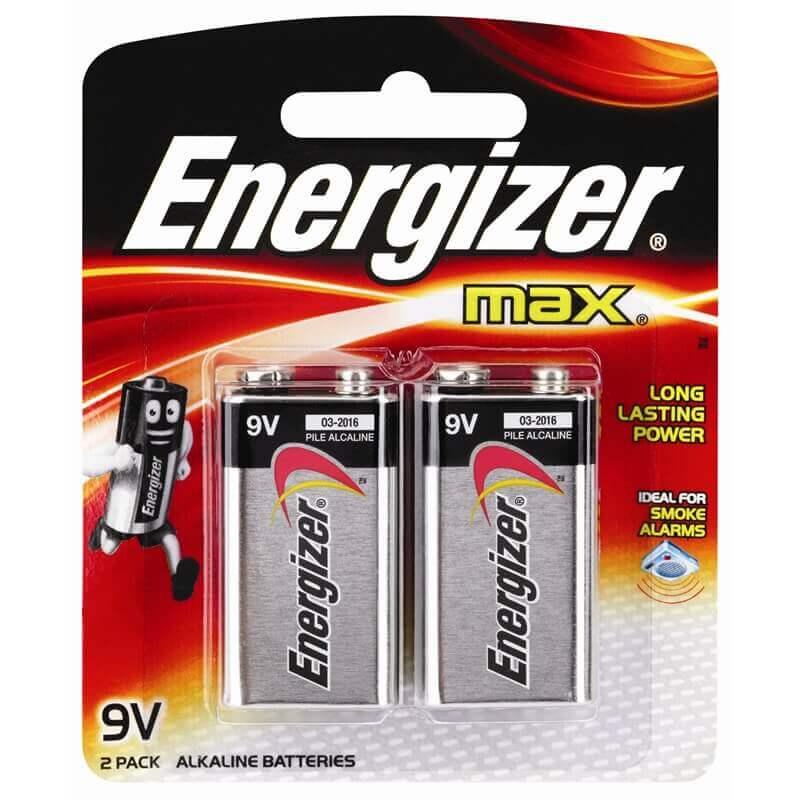 9V Energizer Batteries  - 2-Pack