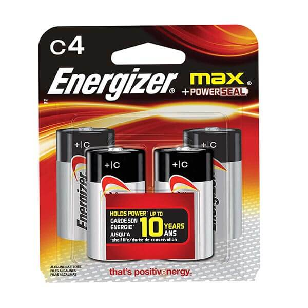 C Energizer Batteries  - 4-Pack