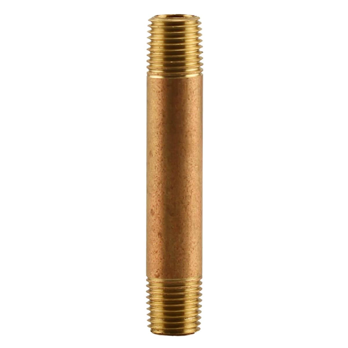 """Bronze Tank Tee Nipple 1/4"""" x 3"""""""