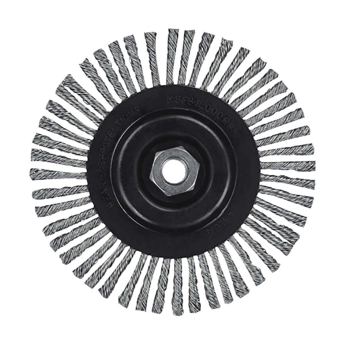 "4"" Stringer Bead Wire Wheel/Carbon Steel 5/8"" 11 Arbor .020"" - DW4925"