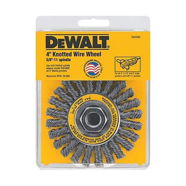 "DEWALT 4"" x 5/8""- 11 Cable Twist Wire Wheel/Carbon Steel .020"" - DW4930"