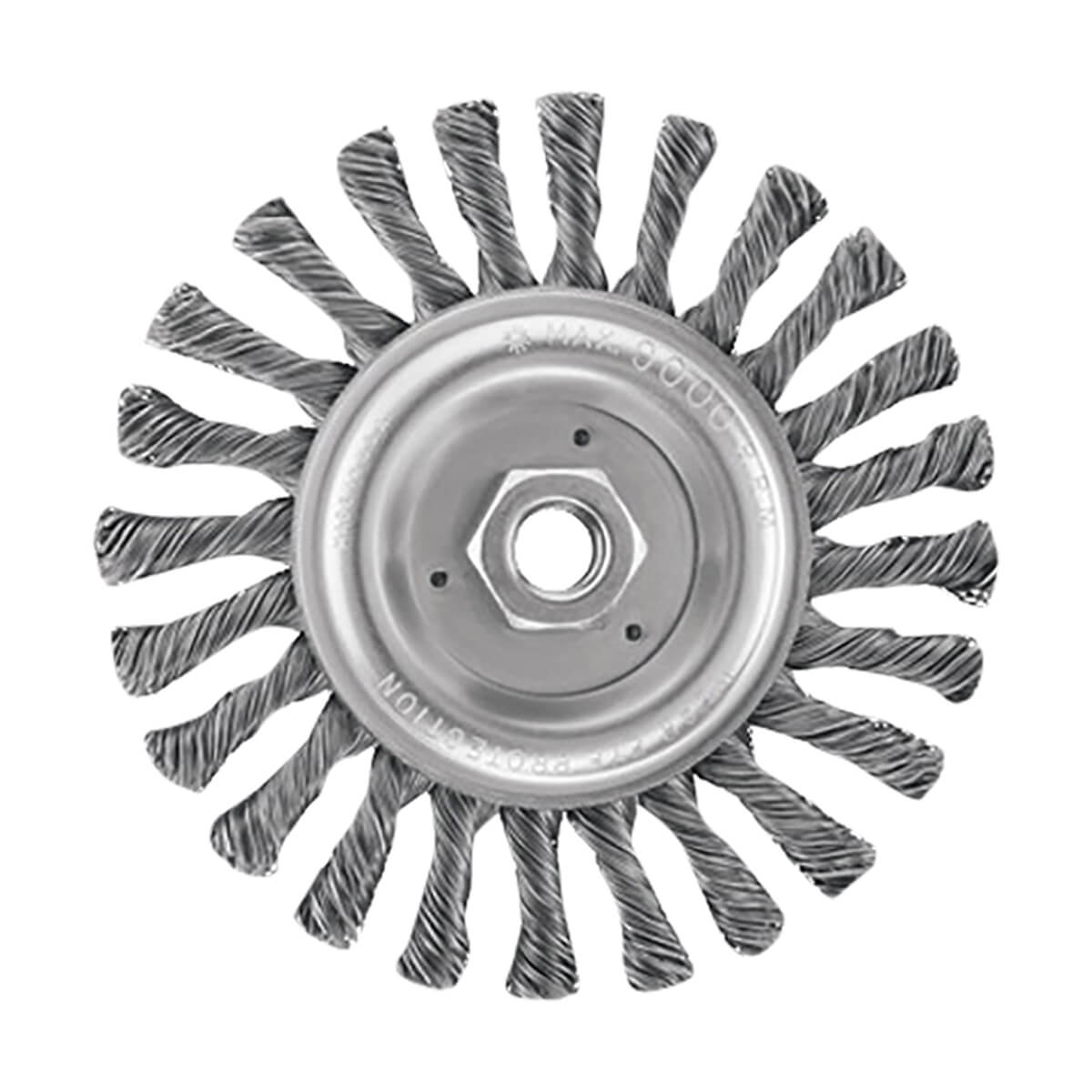 """6"""" Full Cable Twist Wire Wheel/Carbon Steel 5/8"""" - 11 Arbor .025"""" - DW4937"""