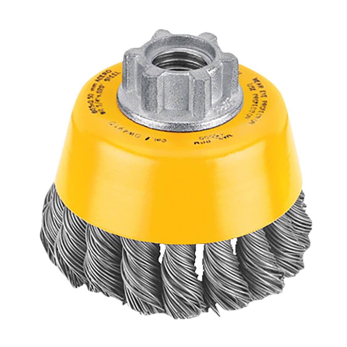 "DEWALT 3"" x 5/8"" - 11 Knotted Cup Brush/Carbon Steel .020"" - DW4910"