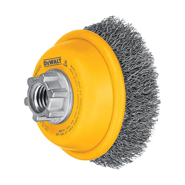 """DEWALT 3"""" x 5/8"""" - 11 Crimped Cup Brush/Carbon Steel .014"""" - DW4920"""