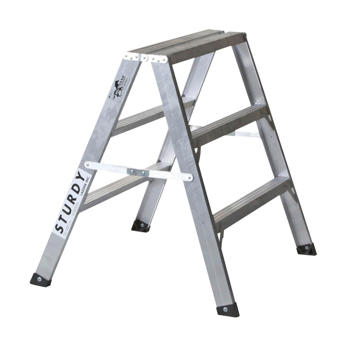 Aluminum Sawhorse Ladders - 3'