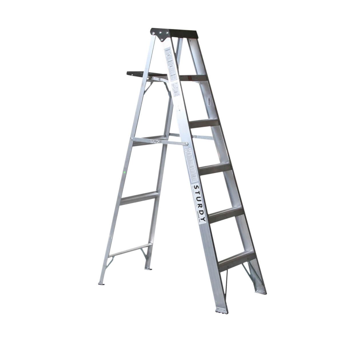 Aluminum Step Ladders  - 8'