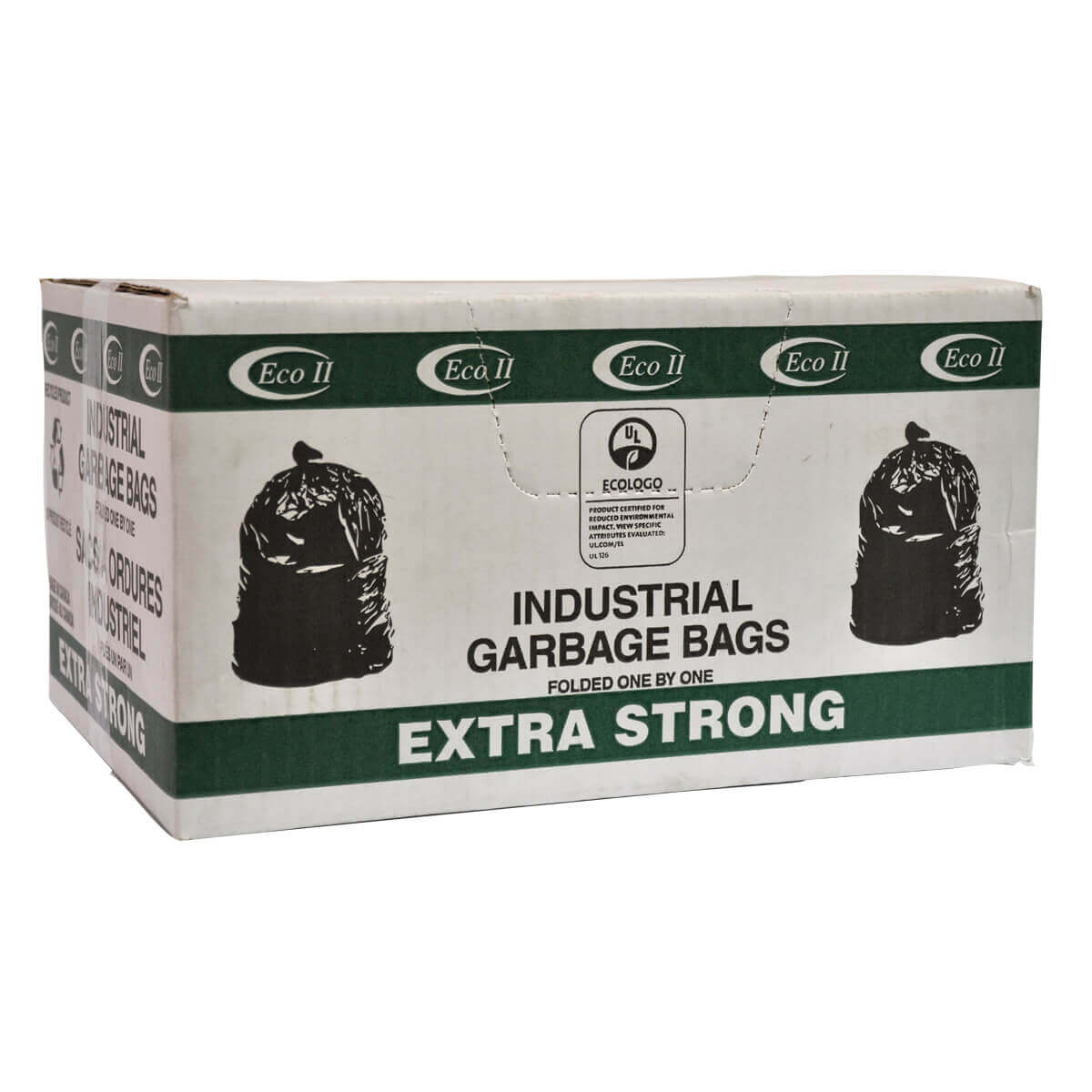 Eco II Extra Strong Industrial Garbage Bags 125  pack