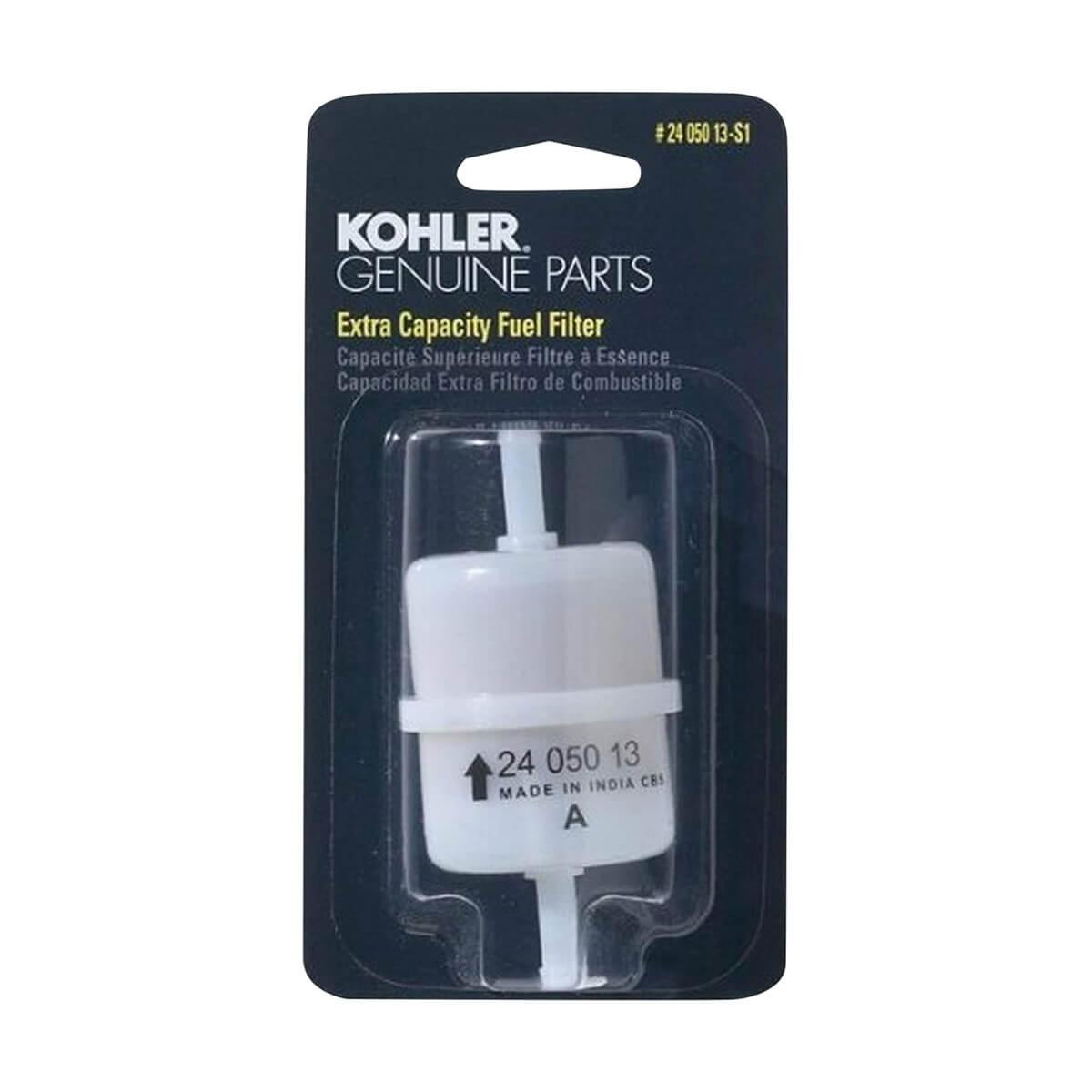 "Kohler 24 050 13-S1 Engine Fuel Filter 15 Micron W 1/4"" Inside Diameter"