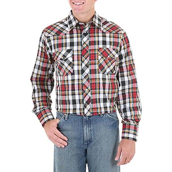 Wrangler Sport Western Plaid Shirt