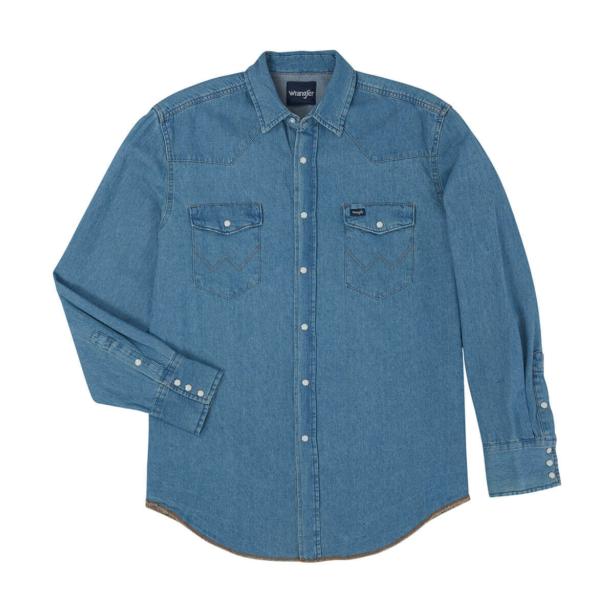Wrangler - Men's Stonewash Denim Work Shirt - M