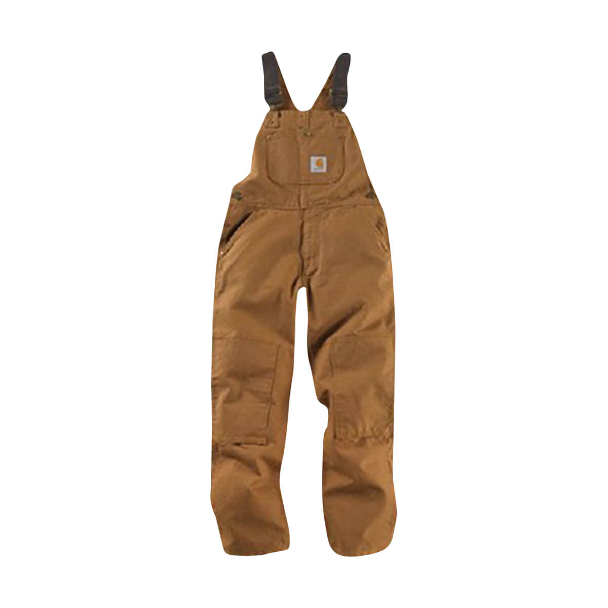 Carhartt Kid's Washed Duck Overalls - Brown