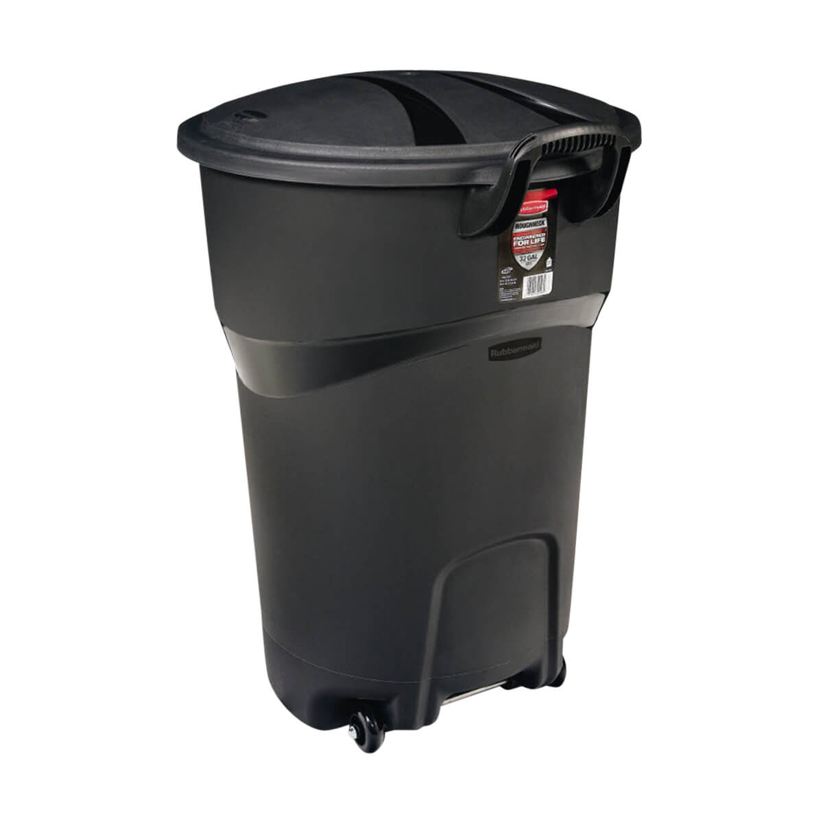 Rubbermaid Black Wheeled Garbage Can  - 121 L