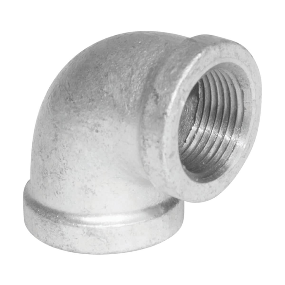 "Fitting Galvanized Iron 90° Elbow 3/8"""