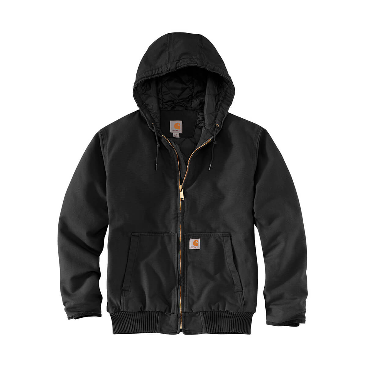 Carhartt Quilted Flannel Lined Sandstone Active Jacket - Black