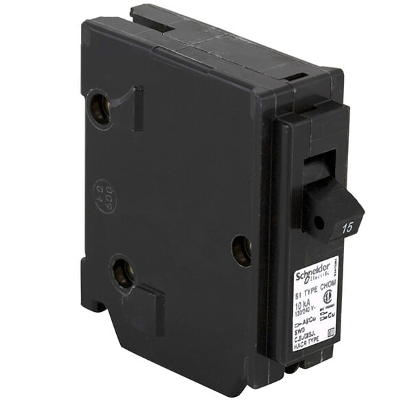 Schneider Electric Homeline Single Pole Circuit Breakers  - 15 AMP