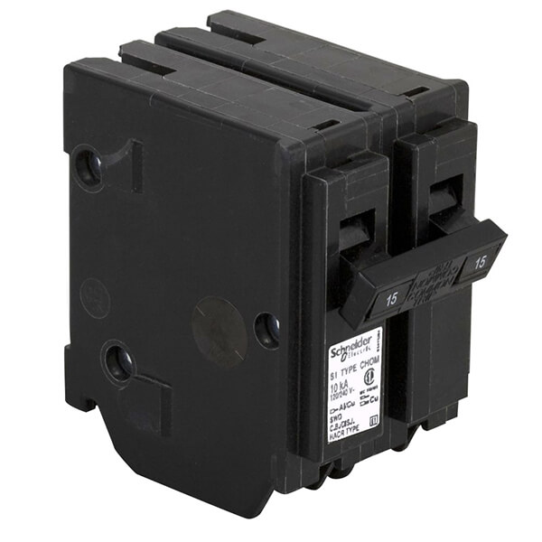 Schneider Electric Homeline Double Pole Circuit Breakers - 15 AMP