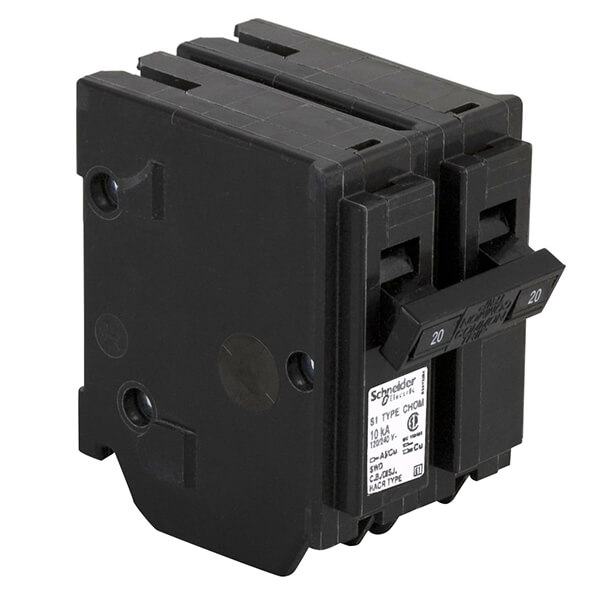 Schneider Electric Homeline Double Pole Circuit Breakers - 20 AMP