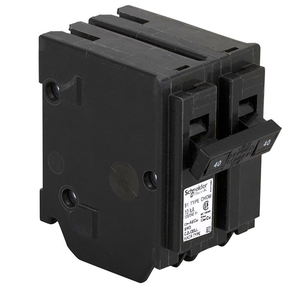 Schneider Electric Homeline Double Pole Circuit Breakers - 40A
