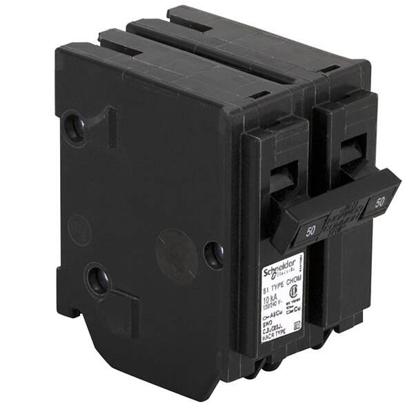 Schneider Electric Homeline Double Pole Circuit Breakers - 50 AMP
