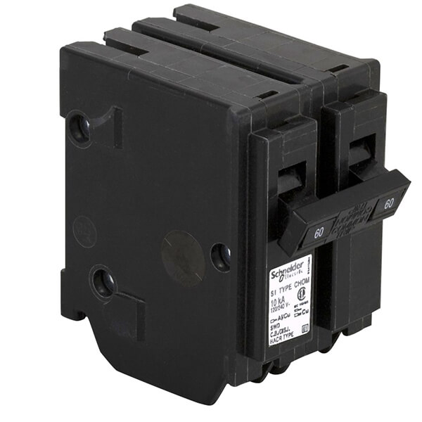 Schneider Electric Homeline Double Pole Circuit Breakers - 60 AMP