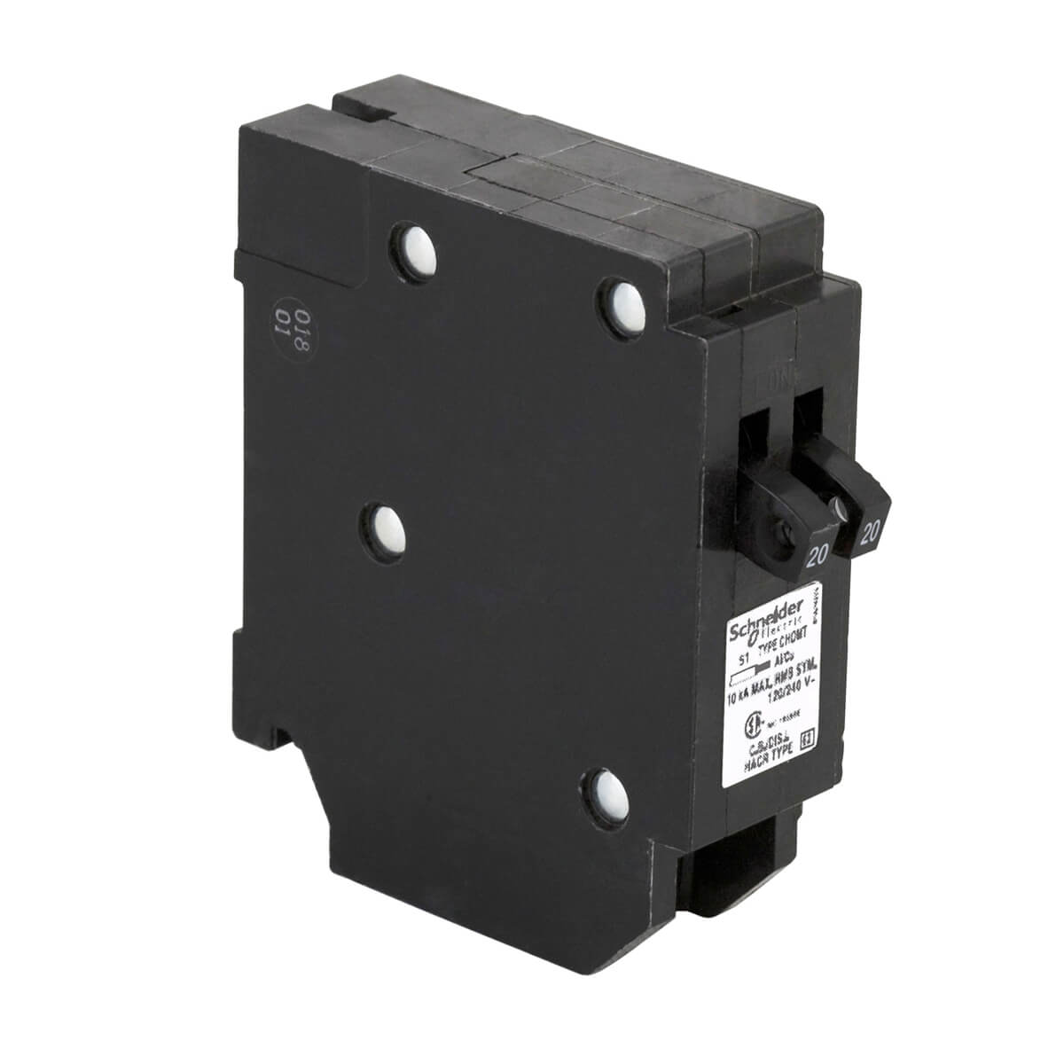 Single Pole 20-20A Tandem Plug-On Circuit Breaker