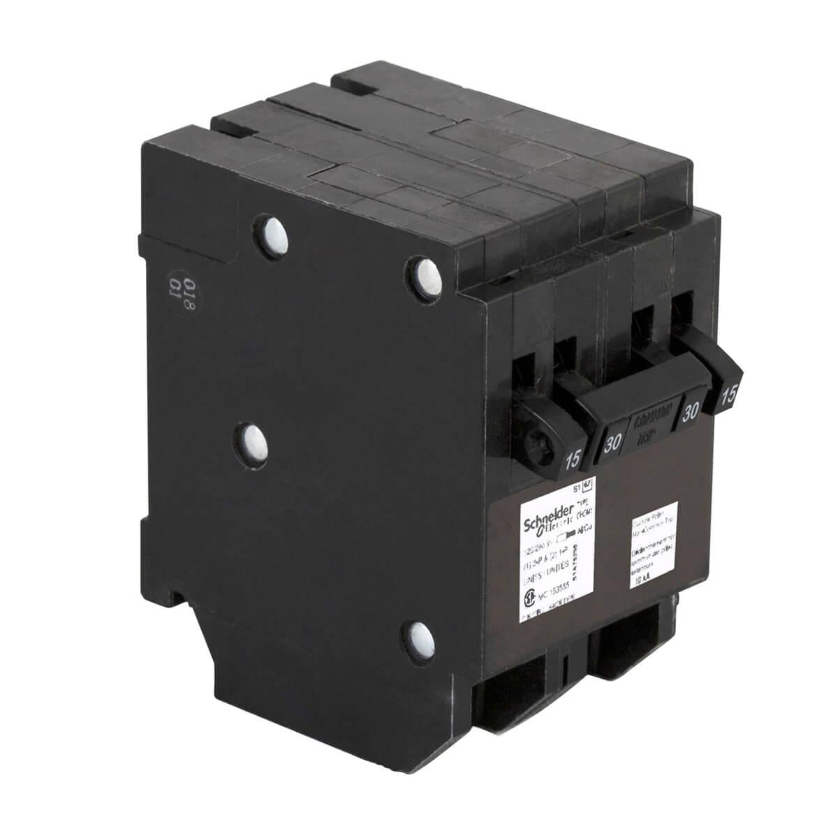 15A Single Pole x2 / 30A Double Pole Quad Plug-On Circuit Breaker