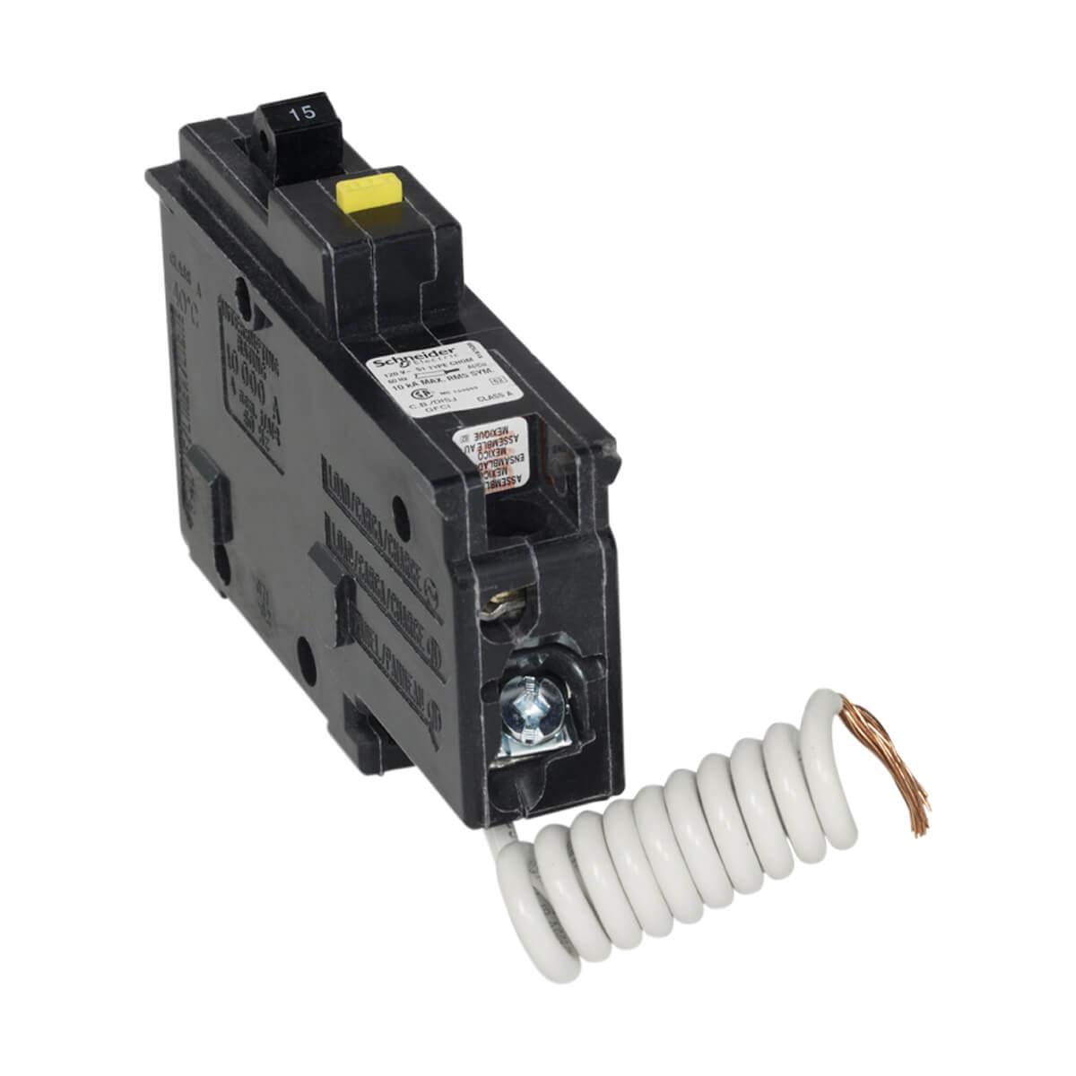 Homeline Single Pole 15 Amp Ground Fault (GFCI) Plug-On Circuit Breaker