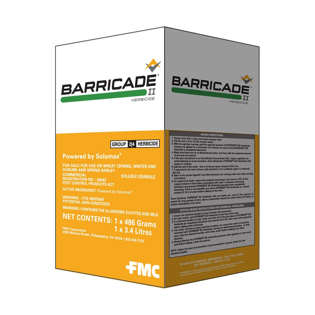 Barricade® II Herbicide - 486g + 3.4L Case