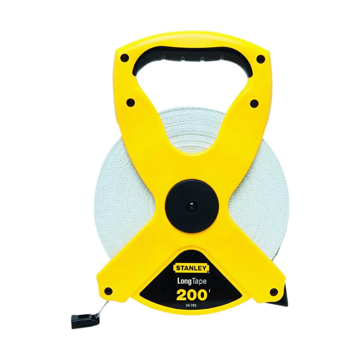 """Stanley Open Reel Fiberglass Long Tape Rule - Length: 200' - Width: 1/2"""""""