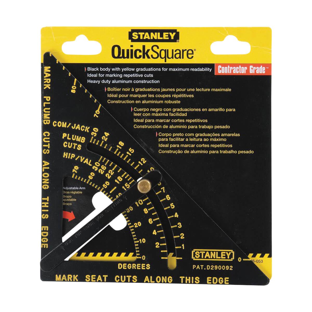 Stanley Premium Adjustable Quick Square Layout Tool - 46-053