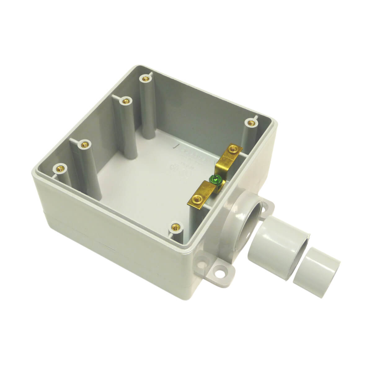 PVC FSE 3-1 Double Gang Box - with reducer bushings - Hub - 1/2-in - 3-in - 1-in