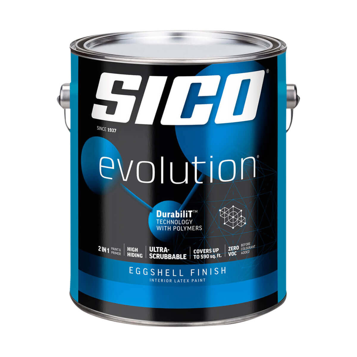 Sico Evolution Eggshell Finish Interior Latex Paint Series 863