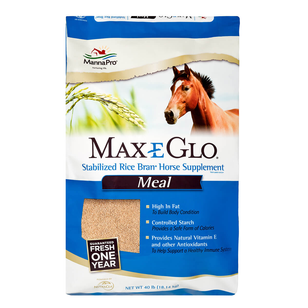 Max-E-Glo® Stabilized Rice Bran - Meal / 18kg